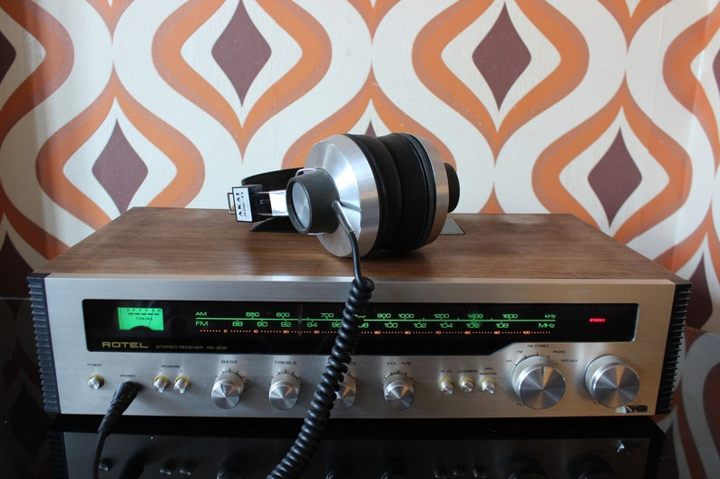 Rotel RX202 stereo hi-fi receiver with Quadraphonic sound tuner teak audio  vintage retro 1970s
