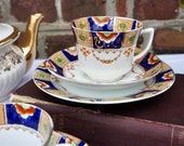 1930 39 s Royal Albion china Imari design trio of fine bone china tea cup and saucer and tea plate.
