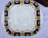 1930 39 s Royal Albion China fine bone china sandwich plate. Imari design English Tea Party.