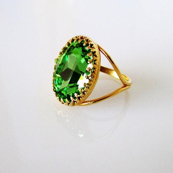 Außergewöhnlich Groene smaragd Gouden Ring Emerald Gouden Ring Emerald Ring | Etsy &SU_16