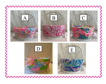 Lilly Pulitzer Easter Basket with Personlized Liner