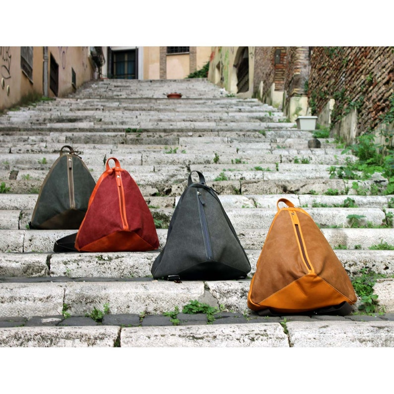 Backpack Konus in waterproof canvas and leather image 0