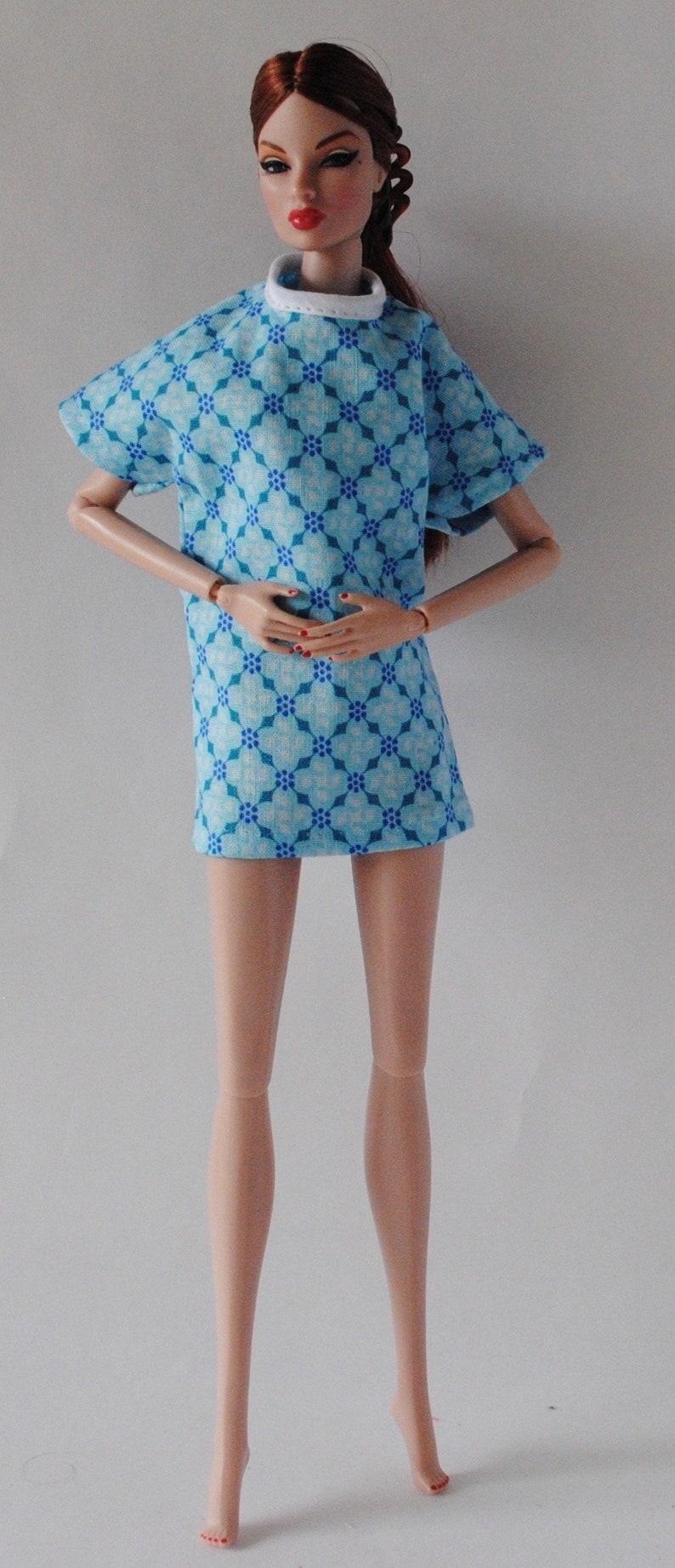 47e2fc72bb6 Lhôpital Barbie robe bleus vêtements fait main Patient