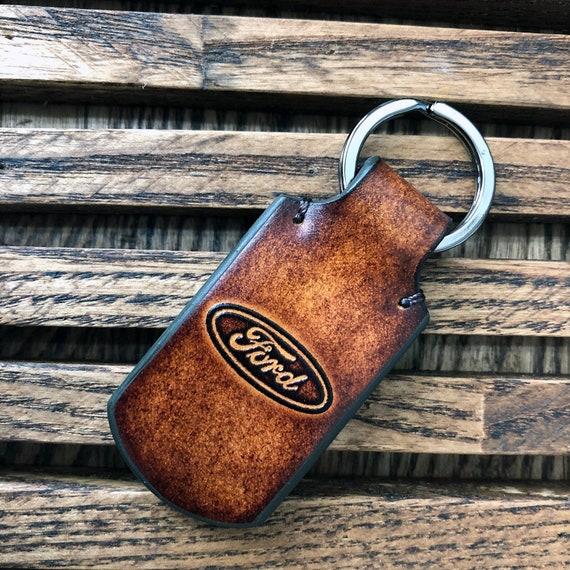 Moto Guzzi Leather Keyring For Motorcycle Handmade Laser Cut Gift