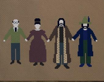 What We Do In the Shadows Family Portrait by Colin Robinson Digital cross stitch pattern Vampire roommates Nandor Laszlo Nadja