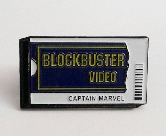 Captain Marvel Blockbuster Pin