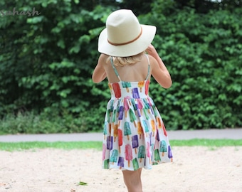 LiLi  Dress & Jumpsuit pdf sewing pattern for toddlers girls summer dress short jumpsuit jersey rompers sunsuits ruffled playsuits sunny