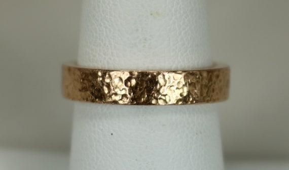 Vintage 14K Rose Gold Eternity Ring or Wedding Ban