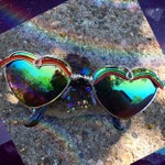 Chakra rainbow sunniez . Heart shape - Flawed. Marked down