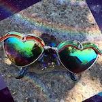 Chakra rainbow sunniez . Heart shape - Flawed. Marked down