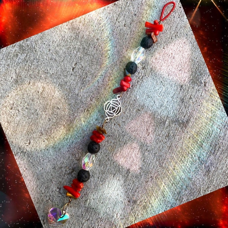 root chakra . with coral tigers eye and lava  beads Grounding image 0