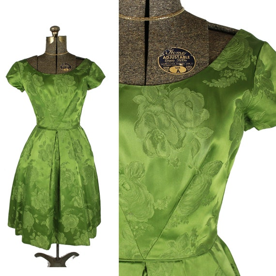1950s/60s Fit and Flare Dress, 1950s Christmas Dre