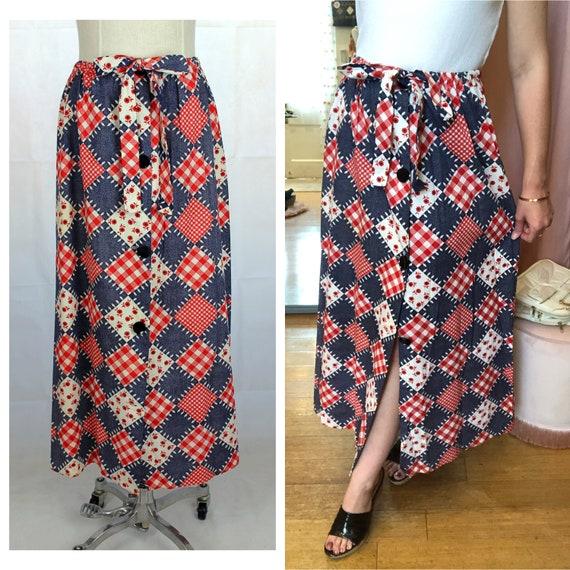 Prairie Skirt, 1970s Prairie Skirt, Prairie Core,