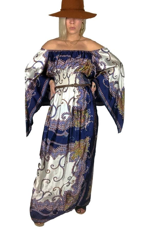 1970s Scarf Dress, 1970s Boho Dress, 1970s Dress,… - image 3