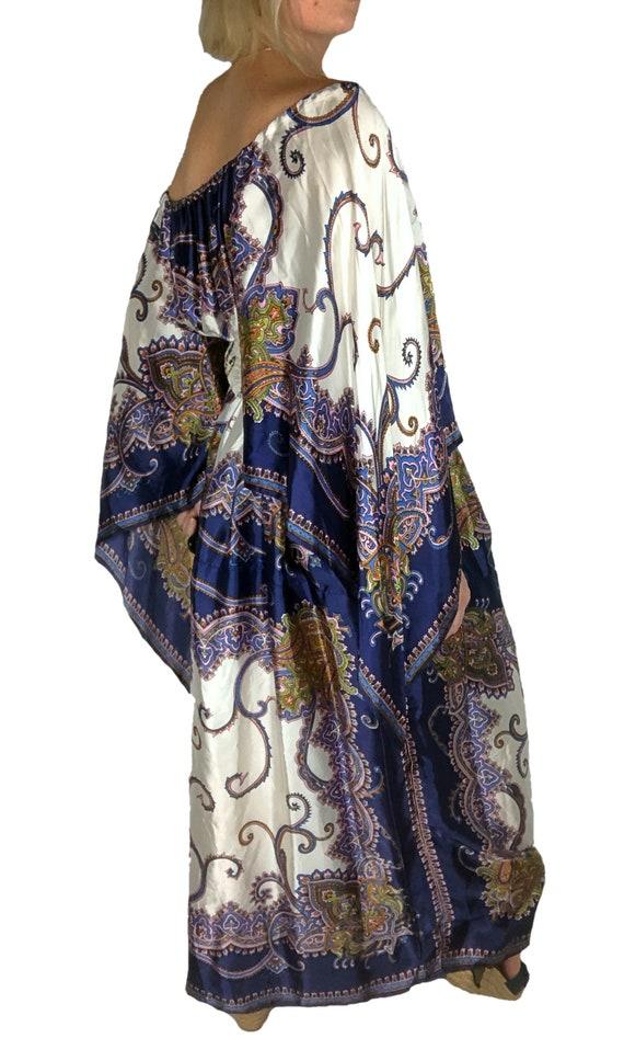 1970s Scarf Dress, 1970s Boho Dress, 1970s Dress,… - image 4