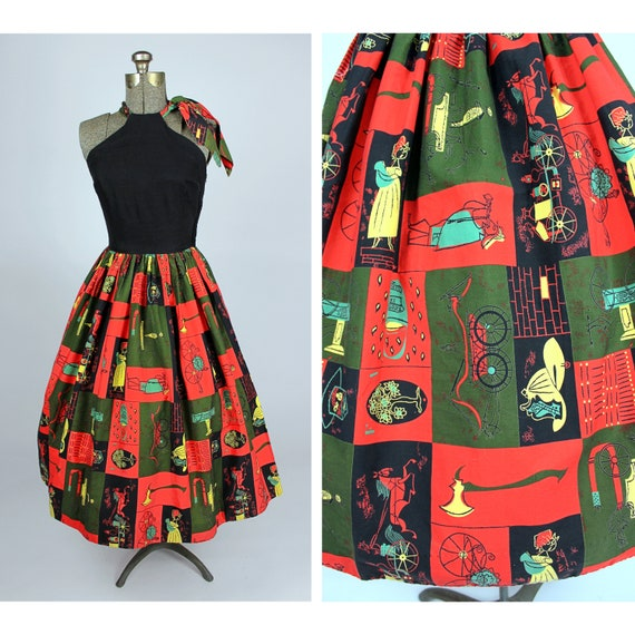 1950s AAA Dress, Laura Jean Allen Print, 1950s Nov