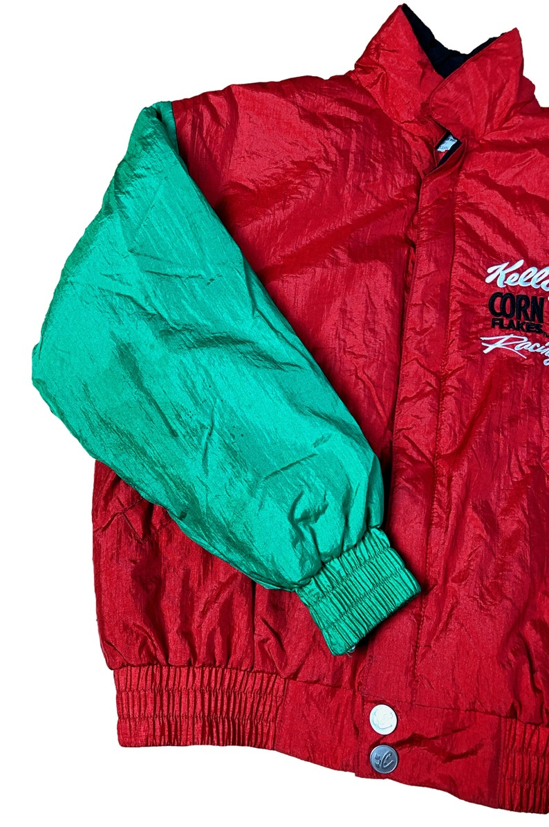 Vintage Kid/'s Nascar Racing Jacket Tony Labonte Chase Authentics Kellogg/'s Racing Nascar Jacket 1990s Vintage Youth Nascar Windbreaker