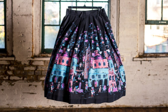 1950s Millworth Skirt, Millworth Print, Millworth
