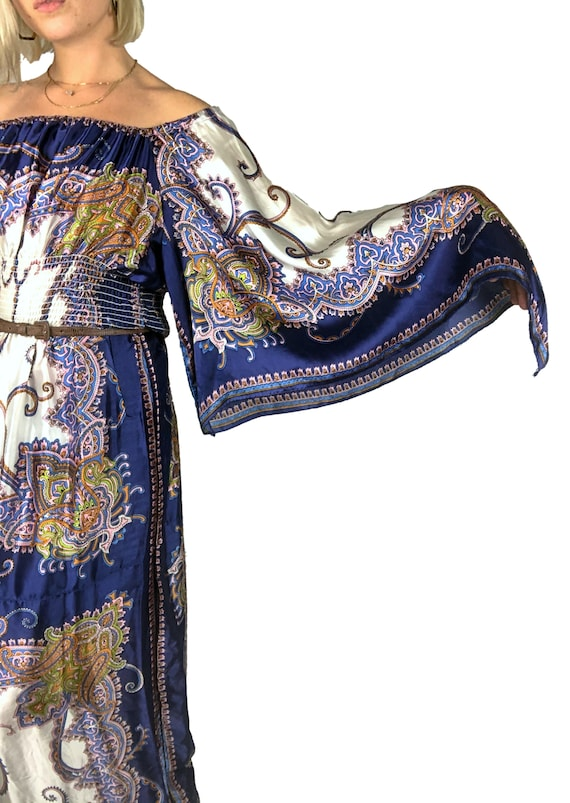 1970s Scarf Dress, 1970s Boho Dress, 1970s Dress,… - image 7