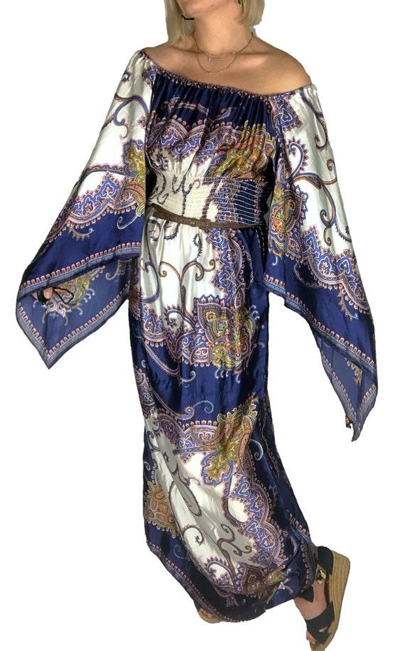 1970s Scarf Dress, 1970s Boho Dress, 1970s Dress,… - image 8