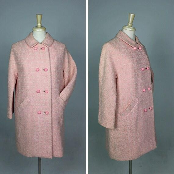 1960s Pink Coat, 1960s Winter Coat, 1960s Pastel C