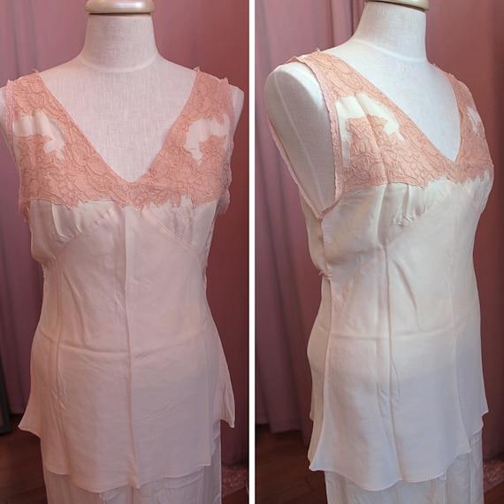 Vintage 1930s Pajama Set, 1930s Beach Pajamas, 19… - image 3