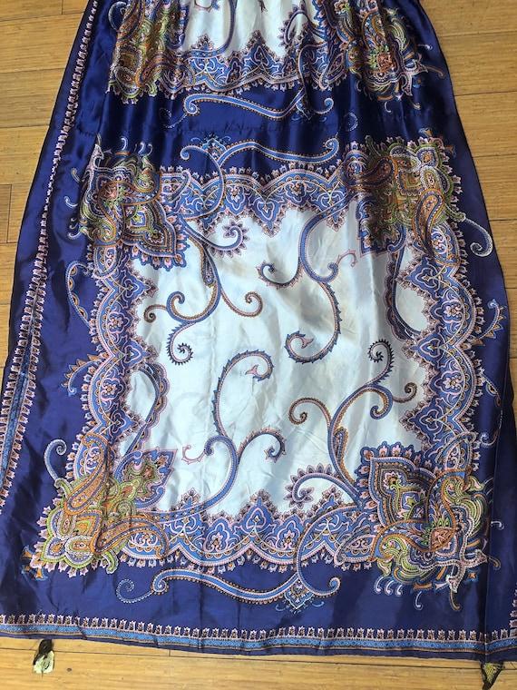 1970s Scarf Dress, 1970s Boho Dress, 1970s Dress,… - image 9