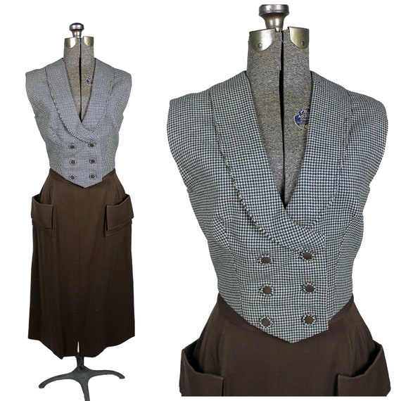 Women's 1940s Skirt Suit, 40s Women's Suit, 1940s
