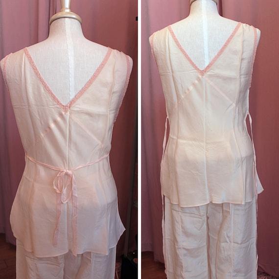 Vintage 1930s Pajama Set, 1930s Beach Pajamas, 19… - image 4