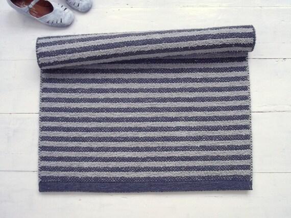 Grau Gestreift Baumwolle Teppich Skandinavischen Teppich Etsy