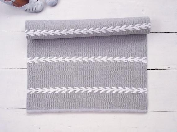 Grau Und Weiss Skandinavischen Teppich Kleiner Teppich Etsy