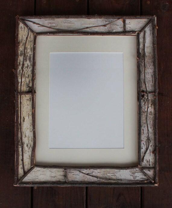 11 x 14 Birch Bark Frame | Etsy