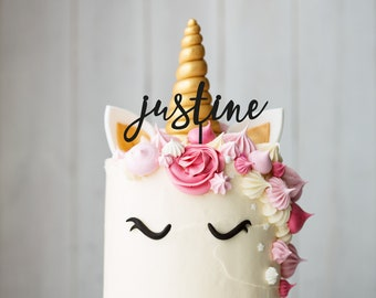 Cake topper with name or word for birthday or party - customization