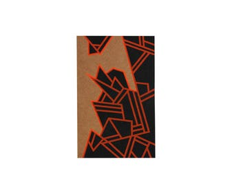 Graphic notebook kraft and fluorescent orange - Pégase