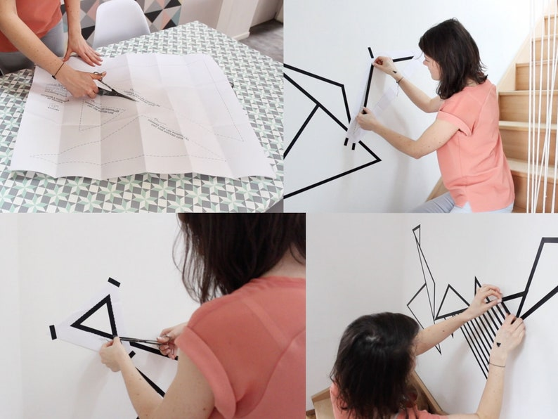 Triangles DIY patron for masking tape