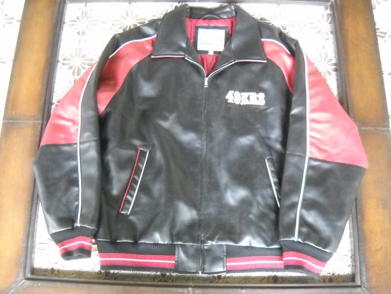 timeless design 48441 f036a Super Bowl Champions San Francisco 49ers Vegan Leather jacket in size  Large, Amazing craftsmanship and detailing by G III Brand zip front