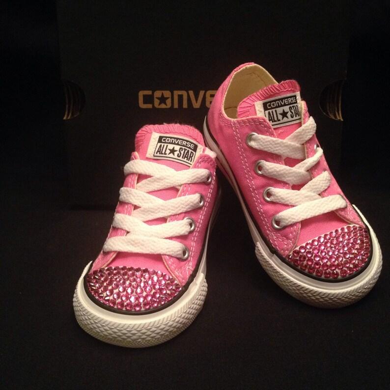 af7ca59e468b Converse All-Star Toddler Pink with Rose Swarovski Crystals