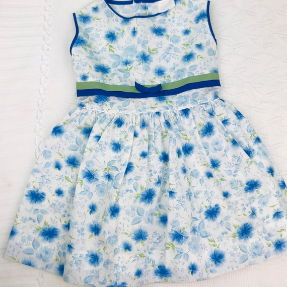 4/5t vintage floral dress slip included - image 5