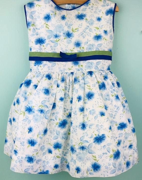 4/5t vintage floral dress slip included - image 2