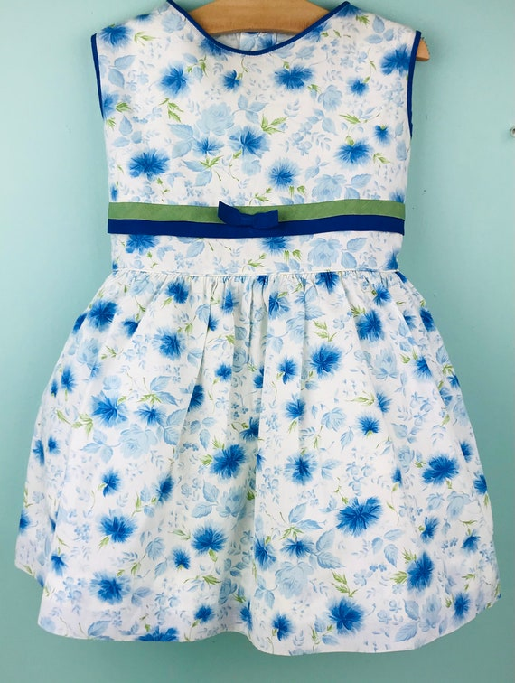 4/5t vintage floral dress slip included - image 1