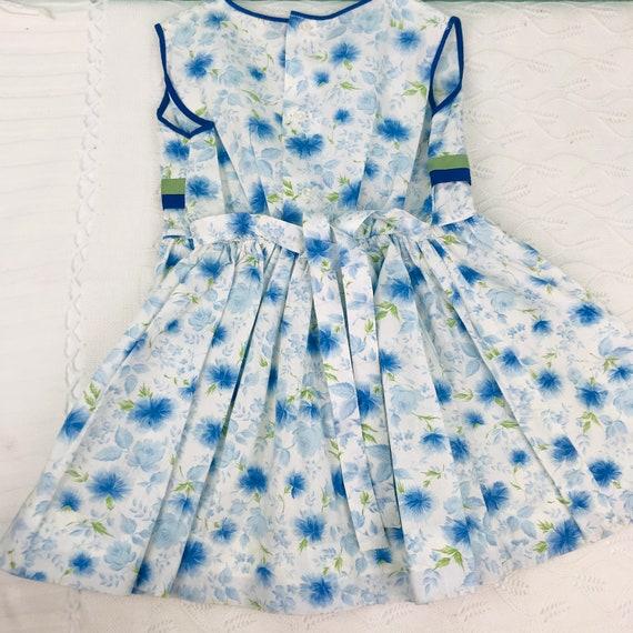 4/5t vintage floral dress slip included - image 4