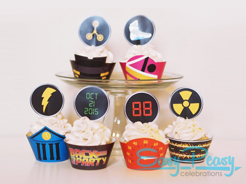 Back To The Future Inspired Cupcake Set image 0