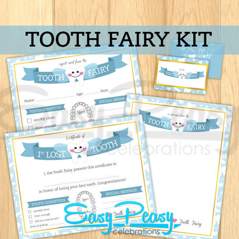 image relating to Tooth Fairy Stationary called Customizable Enamel Fairy Package - Certificates, stationary and envelope