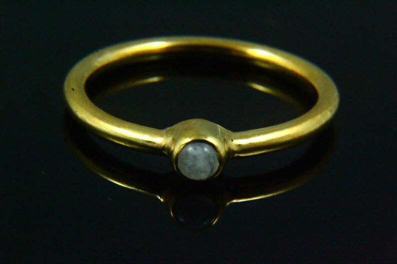 Moonstone Rings White Rainbow Ring Natural Rainbow Moonstone Ring 14k Gold Plated Moonstone Jewelry Delicate Ring Gemstone Ring