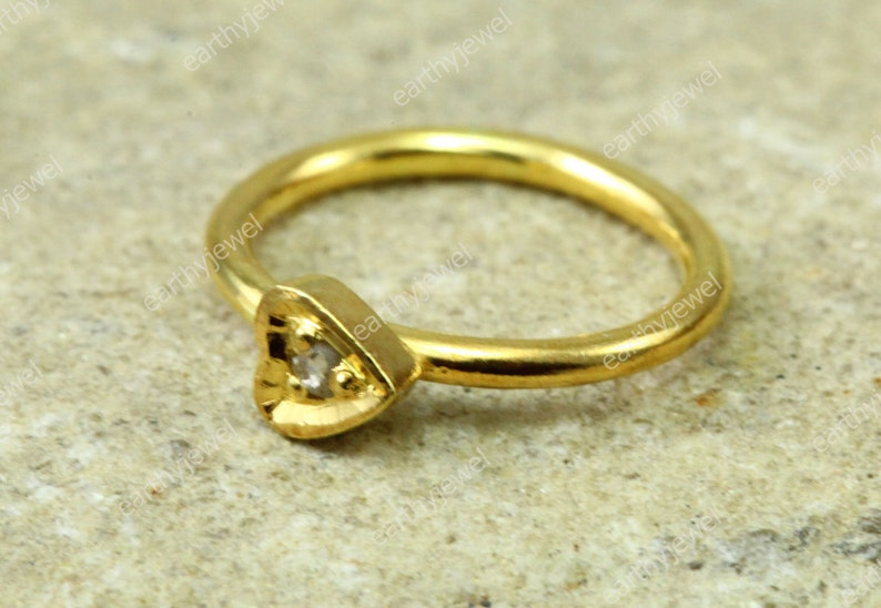 Minimalist Nose Ring 14K Gold Nose Ring Hammered Nose Piercing Jewelry N028 925 Sterling Silver
