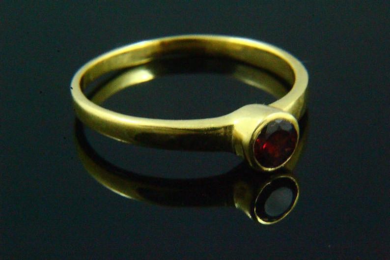 Round Stone Ring Garnet Ring 14k Gold Plated Gold Ring Gemstone Jewelry Garnet Gemstone Ring Natural Garnet Ring