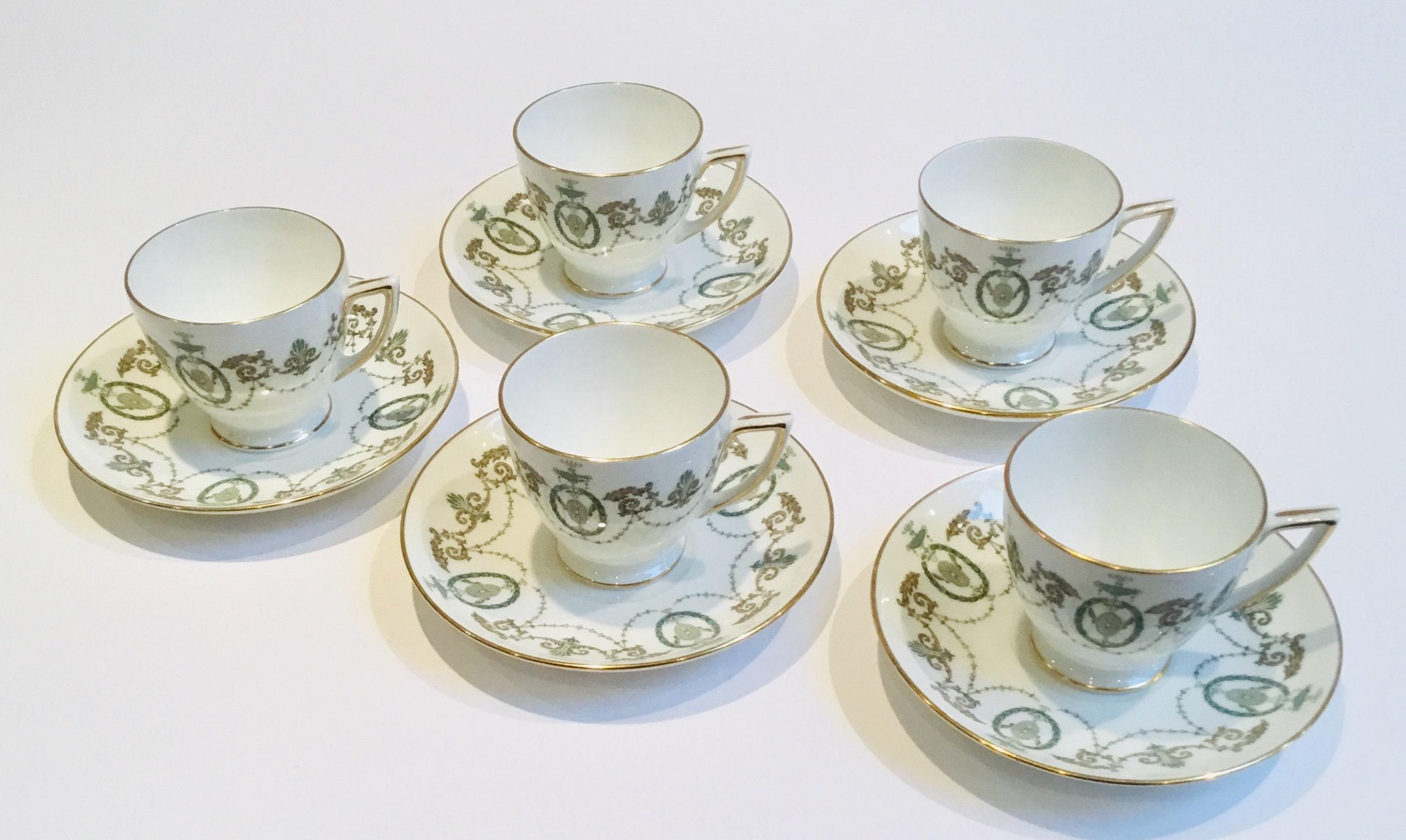 GOLD STANDARD CHINA DEMITASSE TEA CUP /& SAUCER SET  NEW    5