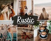 10 RUSTIC Lightroom Presets Boho Presets, Instagram Filter, Vintage Preset, Moody Rich Presets for Blogger, Bohemian Presets, Earthy Presets