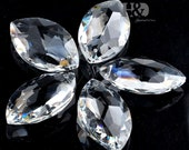 5pcs Clear Chandelier Glass Crystals Lamp Prisms Parts Hanging Drops Pendants 38mm