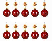 5pcs Tawny Hanging Crystal Round Ball Prism Chandelier Lighting Drops Pendants 30mm